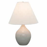 "GS200-GG House of Troy Scatchard 19"" Stoneware Accent Lamp in Gray Gloss"