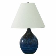 "GS200-MID House of Troy Scatchard 19"" Stoneware Accent Lamp in Midnight Blue"