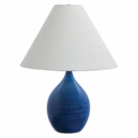 "GS300-BG House of Troy Scatchard 22.5"" Stoneware Table Lamp in Blue Gloss"