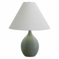 "GS300-CG House of Troy Scatchard 22.5"" Stoneware Table Lamp in Celadon"