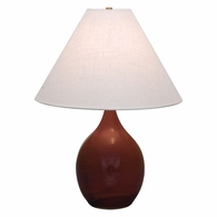 "GS300-CR House of Troy Scatchard 22.5"" Stoneware Table Lamp in Copper Red"