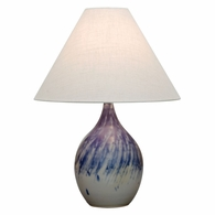 "GS300-DG House of Troy Scatchard 22.5"" Stoneware Table Lamp in Decorated Gray"