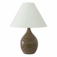 "GS300-TE House of Troy Scatchard 22.5"" Stoneware Table Lamp in Tigers Eye"