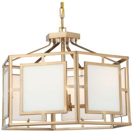 HIL-995-VG Crystorama Libby Langdon For Crystorama Hillcrest 6 Light Vibrant Gold Chandelier
