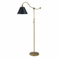 HP700-WB-BP House of Troy Hyde Park Floor Lamp Weathered Brass w/Black Parchment Shade