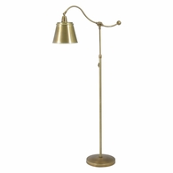 HP700-WB-MSWB House of Troy Hyde Park Floor Lamp Weathered Brass w/Metal Shade
