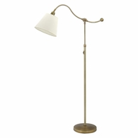 HP700-WB-WL House of Troy Hyde Park Floor Lamp Weathered Brass w/White Linen Shade