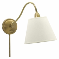 HP725-WB-WL House of Troy Hyde Park Wall Lamp Weathered Brass w/White Linen Shade