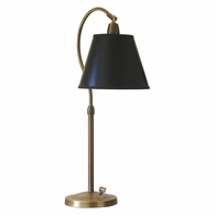 HP750-WB-BP House of Troy Hyde Park Table Lamp Weathered Brass w/Black Parchment