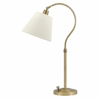 HP750-WB-WL House of Troy Hyde Park Table Lamp Weathered Brass w/White Linen Shade