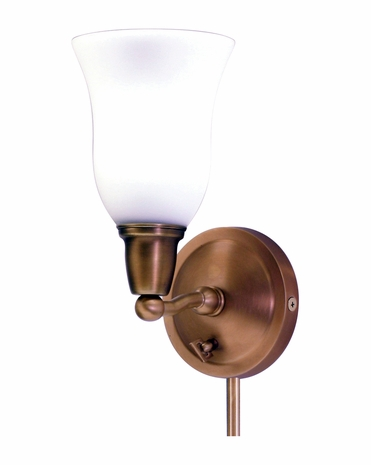 HP775-WB-OG House of Troy Hyde Park Sconce Weathered Brass w/Opal Glass Shade