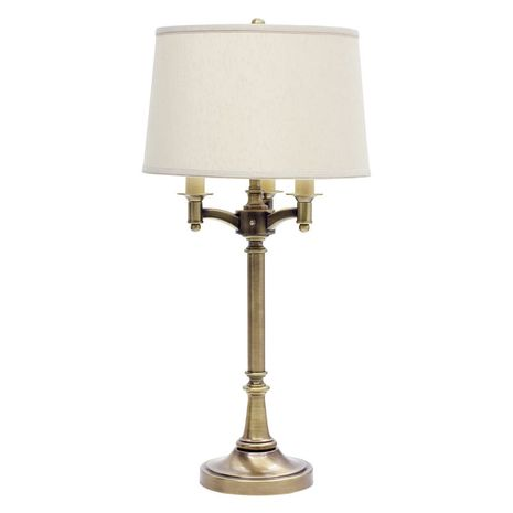 """L850-AB House of Troy Lancaster 31.75"""" Antique Brass Six Way Table Lamp"""