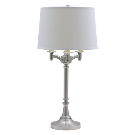 """L850-SN House of Troy Lancaster 31.75"""" Satin Nickel Six Way Table Lamp"""