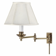 LL660-AB House of Troy Decorative Wall Swing Arm Lamp Antique Brass
