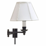 LL660-OB House of Troy Decorative Wall Swing Arm Lamp Oil Rubbed Bronze