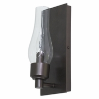 LS201-MB House of Troy Lake Shore Wall Sconce Mahogany Bronze