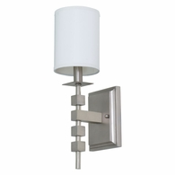 LS204-SP House of Troy Lake Shore Wall Sconce Satin Pewter