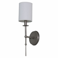 LS205-SP House of Troy Lake Shore Wall Sconce Satin Pewter