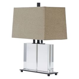 """M554-OB House of Troy Marquis 19"""" Oil rubbed Bronze Rectangular Crystal Table Lamp"""