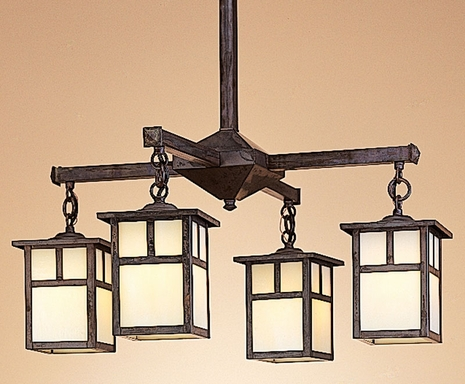 MCH-5-4 Arroyo Craftsman Five-inch Mission Four-Light Chandelier