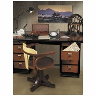MF014 Authentic Models Captain's Desk, Black