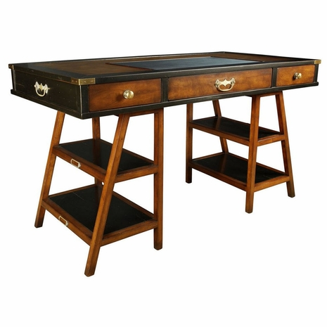 MF022 Authentic Models Navigator's Desk, Black