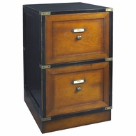 MF039 Authentic Models Campaign Files Cabinet, Black
