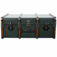 MF040P Authentic Models Stateroom Trunk Table, Petrol