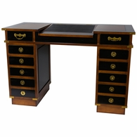 MF056 Authentic Models Madras Travel Desk with Doors and Brass Campaign Corners
