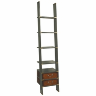 MF068G Authentic Models Library Ladder Bookcase, Grey