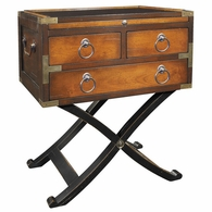 MF113 Authentic Models Bombay Box Table, 2-tone Honey