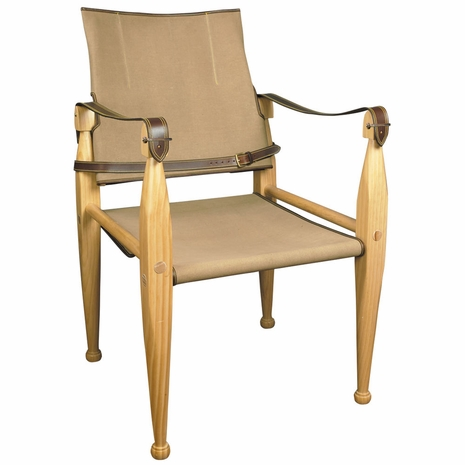 MF151 Authentic Models Leather/Canvas Chair