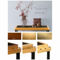MF166 Authentic Models ACE Console Table, Gold