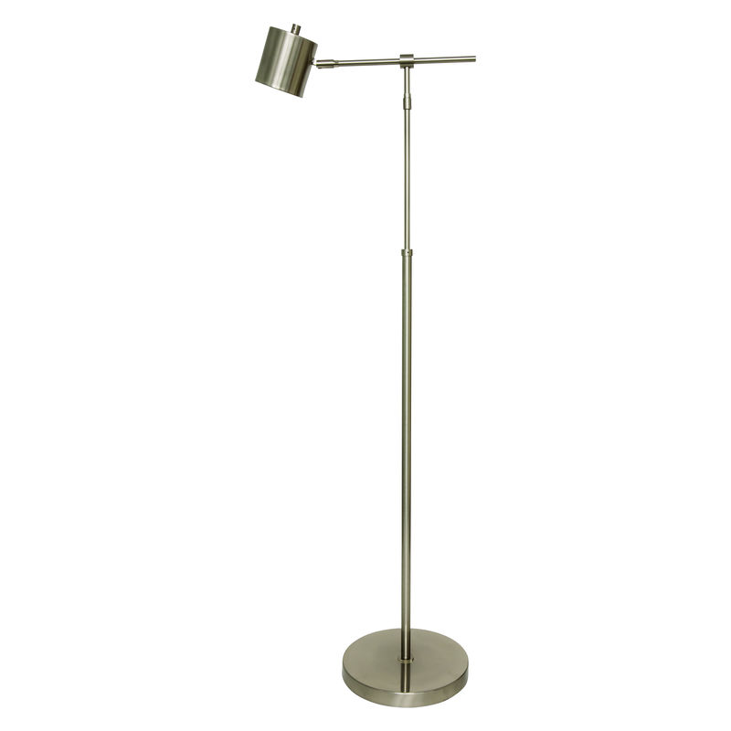 MO200-SN House of Troy Morris Adjustable LED Floor Lamp in Satin Nickel