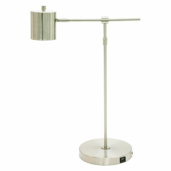 MO250-SN House of Troy Morris Adjustable LED Table Lamp with USB port in Satin Nickel