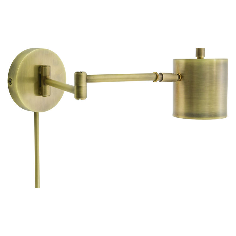 MO275-AB House of Troy Morris Adjustable LED Wall Lamp in Antique Brass