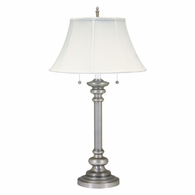 "N651-PTR House of Troy Newport 30.25"" Pewter Table Lamp"