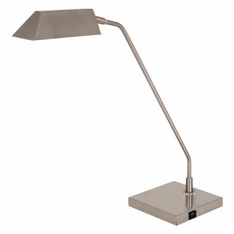 NEW250-SN House of Troy Newbury Table Lamp in Satin Nickel with USB Port