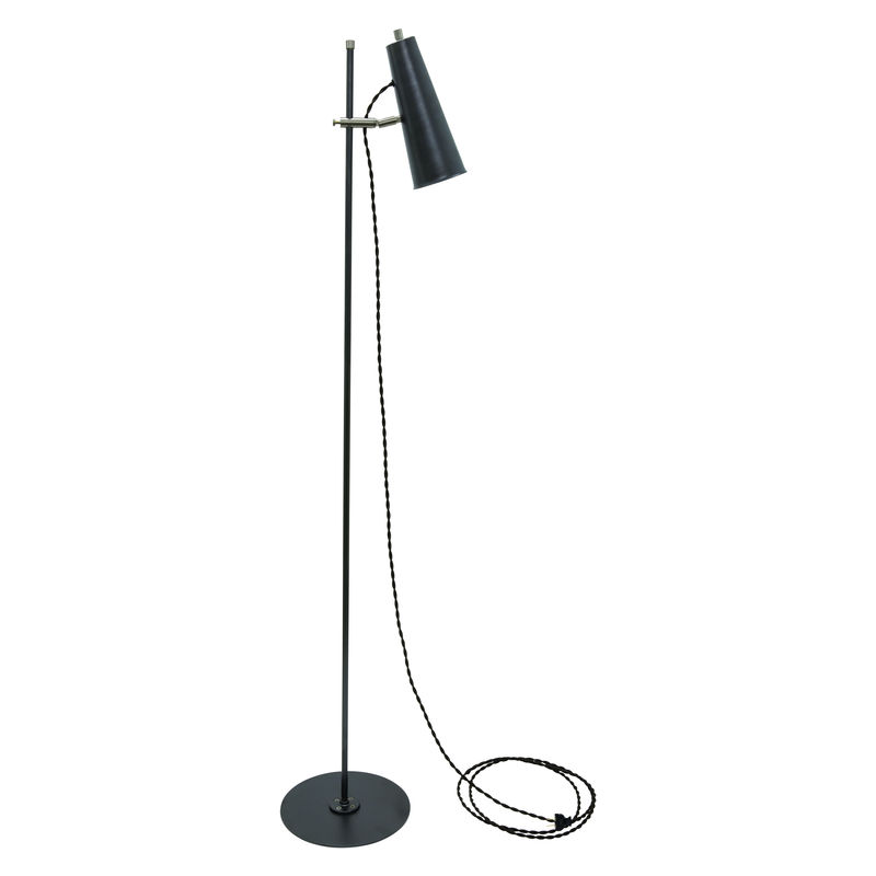 NOR300-GTSN House of Troy Norton Adjustable LED Floor Lamp in Granite with Satin Nickel Accents