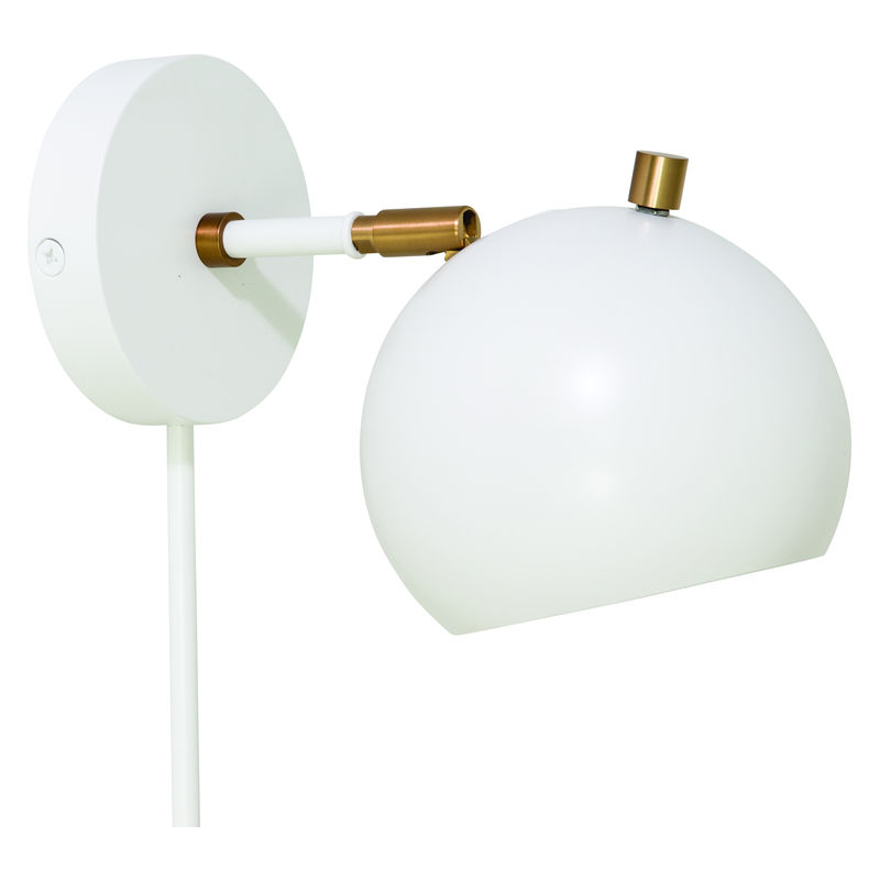 OR775-WTWB House of Troy Orwell LED Wall Lamp in White with Weathered Brass Accents