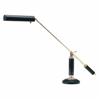 P10-192-617 House of Troy Counter Balance Polished Brass and Black Marble Piano/Desk Lamp