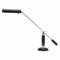 P10-192-627 House of Troy Counter Balance Chrome and Black Marble Piano/Desk Lamp