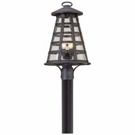 P5165 Troy Solid Aluminum Exterior Benjamin 4Lt Post Lantern Large with Vintage Iron Finish