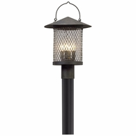 P5175 Troy Hand-Worked Iron Exterior Altamont 4Lt Post Lantern Large with French Iron Finish