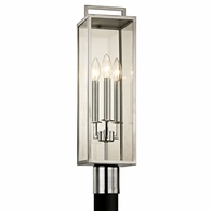 P6535 Troy Stainless Steel Exterior Beckham 3Lt Post with Polished Stainless Finish
