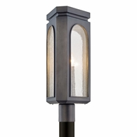 P6795 Troy Stainless Steel Exterior Alton 3Lt Post with Graphite Finish
