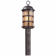P9252NB Troy Hand-Worked Iron Exterior Aspen 1Lt Post Lantern Large with Natural Bronze Finish