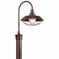P9272OR Troy Hand-Forged Iron Exterior Circa 1910 1Lt Post Downlight Large with Old Rust Finish