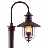 P9364NB Troy Hand-Forged Iron Exterior Old Town 1Lt Post Lantern Large with Natural Bronze Finish