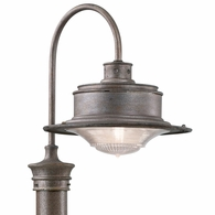 P9394OG Troy Hand-Forged Iron Exterior South Street 1Lt Post Downlight Large with Old Galvanized Finish